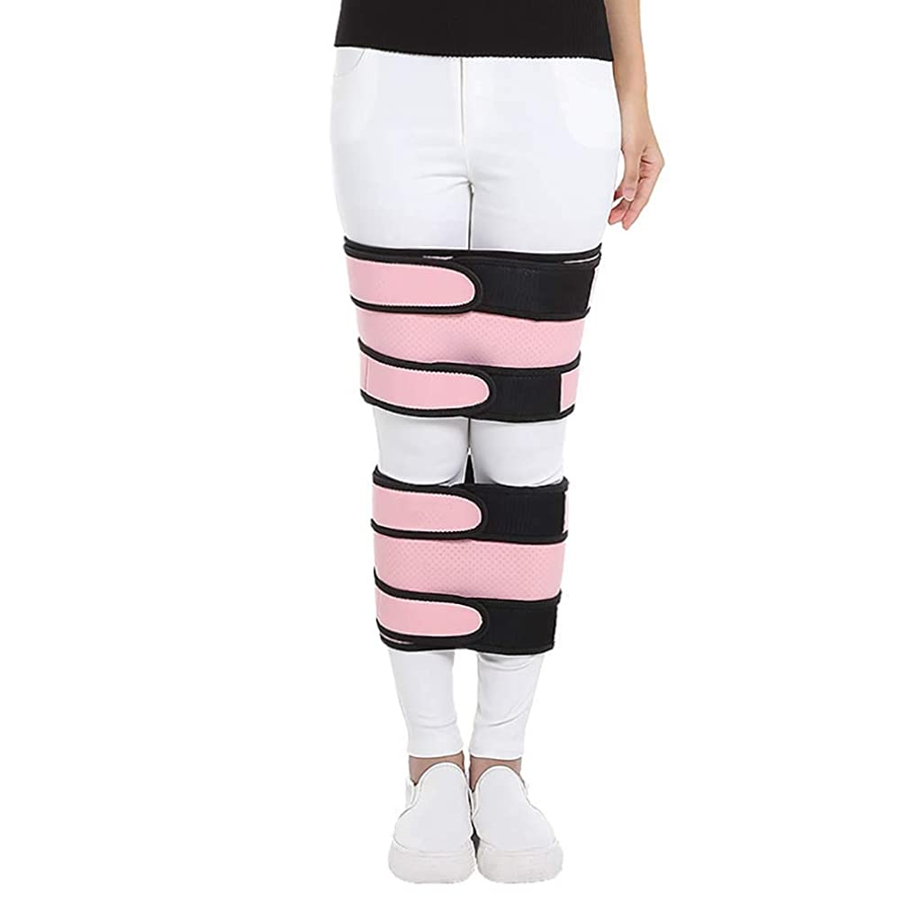 血オレンジ厚いO型脚とX型脚用の調整可能な脚補正バンド-補正ブレースベルトノック膝膝外反変形ボウ脚バンドはベルト耐久性を矯正,M