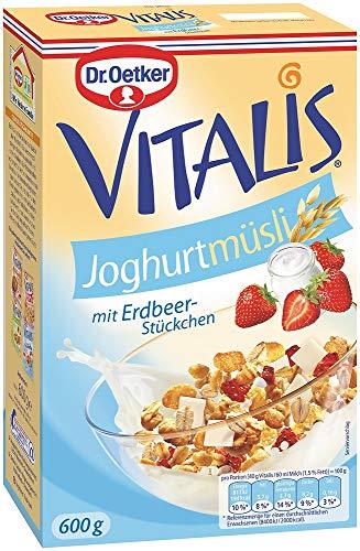 Dr. Oetker Vitalis Joghurtmüsli, Müsli für Frühstück & Zwischendurch, hervorragend mit Milch, Joghurt oder Obst, 6er Pack (6 x 600 g)