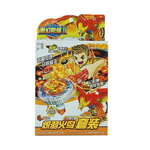 WeiX Peonzas,Lanzador Beyblade,Fighting Top Blade Evolution Launcher gyro Top Novedad Spinning Toy,Adecuado para niños de 8 años en adelante, Juguetes, Regalos,Naranja