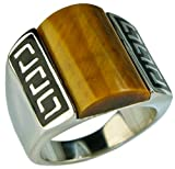 Sujak Jewelry Bold Tiger Eye Celtic Mens Ring 316 Stainless Steel Size 9 T44