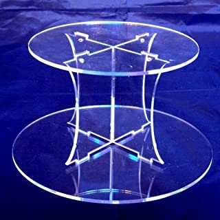 Plain Acrylic Round Acrylic Pillars Wedding & Party Cake Separators/Stands 15cm 6