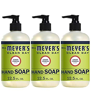 Mrs Meyer s Clean Day Liquid Hand Soap Cruelty Free and Biodegradable Hand Wash Made with Essential Oils Lemon Verbena Scent 12.5 oz - Pack of 3