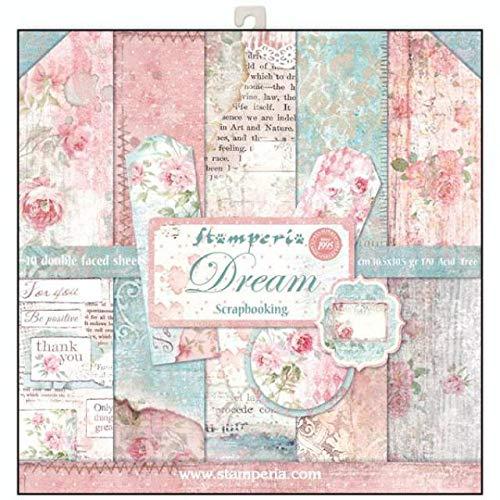 STAMPERIA SBBL27 - Bloc de papel (10 hojas, doble cara, 30,5 x 30,5 cm), multicolor