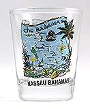 Nassau Bahamas Map Shot Glass