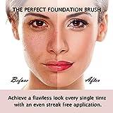 ENERGY Angled Flat Concealer Brush Under Eye Concealer Nose Contour Brush for Bronzer Liquid Foundation Cream Cosmetic Press Powder Concealer Palette Blending Buffing Stippling Brush Small 370S