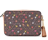 Michael Kors Borsa con tracolla Jet Set Travel in pelle marrone con stampa aerei