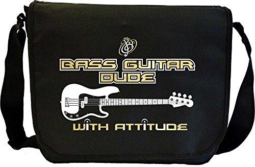 Bass Guitar Dude Attitude - Sheet Music Document Bag Musik Notentasche MusicaliTee