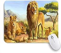 マウスパッド アフリカのアートライオンズママのおさんとたちのの ゲーミング オフィス おしゃれ がい りめゴム ゲーミングなど ノートブックコンピュータマウスマット
