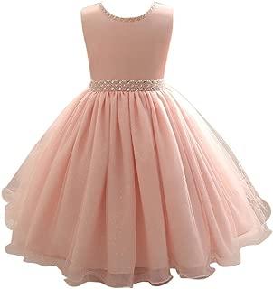 Goodlock Children Kids Fashion Dress Girl Sleeveless Beaded Dress Princess Formal Pageant Holiday Wedding Bridesmaid Dress