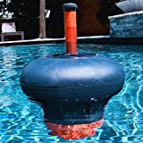 Hooli Home Pool Chlorine Float - Floating Chlorine Dispenser Fits 1 & 3 Inch Chlorine Tablets - Chlorine Floater Include Refill Indicator & Tie-Down Cord - Fun Above Ground Pool Accessories & Supplies