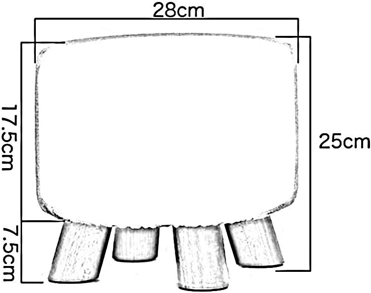 YCSD Round Footstool Ottoman Pouffe  Chaise Support en Bois PU Rembourré, Facile À Nettoyer, 28xH 25cm (Color : Black) Red
