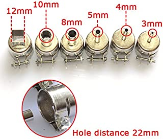 HAYEAR 6pcs Nozzles for Hot Air Gun Solder Soldering Iron Station Gj-8018lcd 858d 898d 852d 853d 2008d 8508d 992da+ 878ad