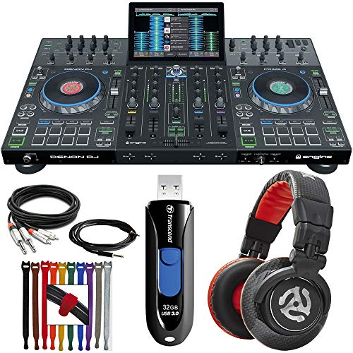 Best Price Denon Prime 4 DJ System 4 Deck Standalone With 10 inch Touchscreen | DJ Headphones | 32GB...