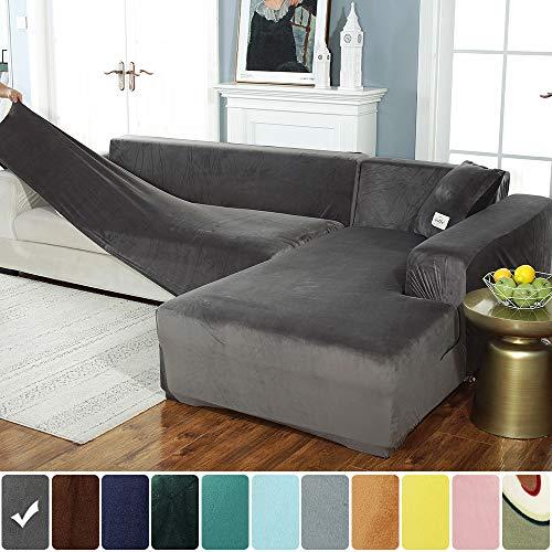 Hoomall Sofa Überwürfe Sofabezug Für L-Form Sofa Stretch elastische Sofahusse Sofa Abdeckung in Verschiedene Größe und Farbe