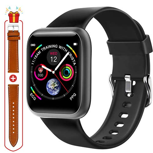 Fullmosa Smart Watch, Fitness Tracker Watch with Heart Rate Monitor Step Sleep Tracker, IP68 Waterproof Pedometer Smartwatch Compatible with iOS, Android, iPhone, Samsung, Watch for Men Women