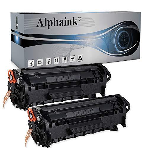 2 Toner Alphaink Compatibile con HP Q2612X versione da 3500 copie per stampanti HP 1005 HP LASERJET 1010 1012 1015 1018 1020 1022 3015 3020 3055