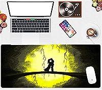 マウスパッド 漫画の風景大90X40Cmゲーミングマウスパッドオフィスホームタブレットコンピューター耐久性のあるコンピューターキーボードマウスパッド-(B)_90X40Cm