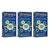 CONTROL Kit 3 Confezioni Profilattici Nature Easy Way, 18 preservativi, ogni confezione contiene 6 profilattici con delicata linguetta che permette di srotolarlo in un solo gesto