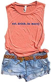 Eat Drink and Be Merry, Dave Matthews Band Tank Women, DMB Shirt, Vintage T Shirt, Dave Matthews Concert Shirt, DMB Tour, Lyric Shirts