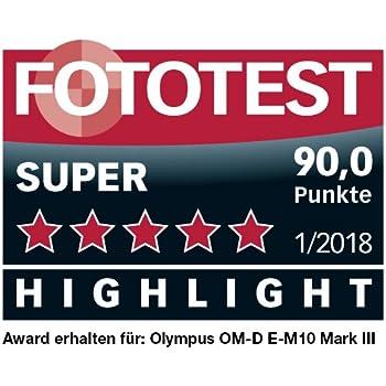 Olympus OM-D E-M10 Mark III Micro Four Thirds Systemkamera, 16 Megapixel, Bildstabilisator, elektronischer Sucher, 4K-Video, silber
