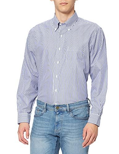 Brooks Brothers Dress Non-Iron Botton Down Regent Bengal Stripe Chemise, Bleu (Blue 80), 39 (Cou 15 Manche in. 33) Homme
