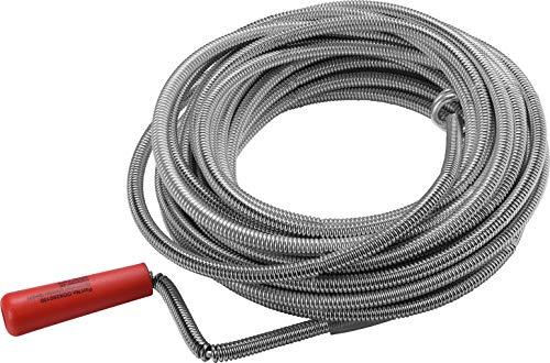 CONNEX COX260100 Espiral para limpiar las tuberías (9 mm, 10 m), 10mx9mm