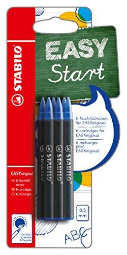 Tintenpatronen zum Nachfüllen - STABILO EASYoriginal Refill - medium - 6er Pack - Schreibfarbe blau (löschbar)