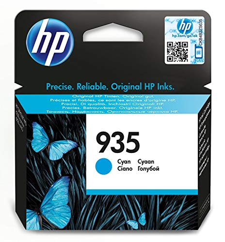 HP 935 (C2P20AE) Cartuccia Originale per Stampanti HP a Getto di Inchiostro, Compatibile con HP OfficeJet 6820; OfficeJet Pro 6230 e 6830, Ciano