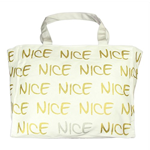 Robin Ruth – Nice shopping bag – colore: Bianco, oro