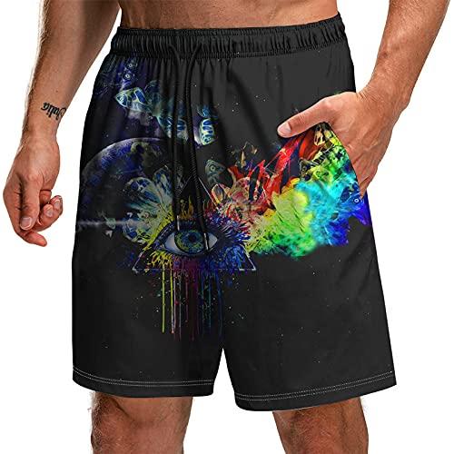 Bañadores Hombre Pantalones Cortos De Impresión 3D De La Serie Ocular Pantalones De Playa Sueltos-Tta3-90_Stk_XXXL.