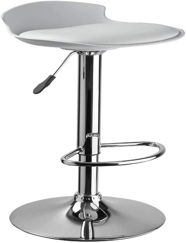High Stool Plastic Modern Soft Cushion Bar Chair Bar Fashion Chair Lift,White