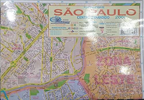 Mapa da Cidade de São Paulo Centro Expandido 120 x 90 cm Dobrado