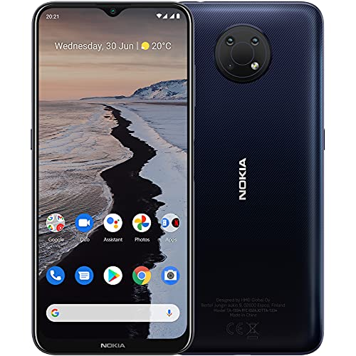 "Nokia G10 Smartphone Skandinavisches Design, Dual-SIM, RAM 3GB, ROM 32GB, bis zu 3 Tage Akkulaufzeit, verbessertes 6,5""-Display, Dreifachkamera mit KI-Modi, Android 11 - Night"