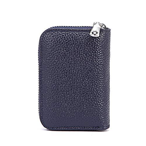 STM32 by ST Leather Wallet Women Short Multi-Card Anti-Theft Swipe Card Bag Folding Wallet Cowhide Wallet-Royal Blue