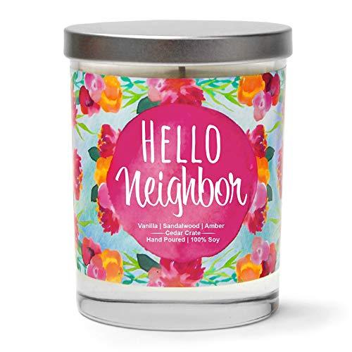 Hello Neighbor, Vanilla, Sandalwood, Amber, Scented Soy...