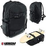 Venom Skateboards Pro Skateboard Backpack School Rucksack with Board...