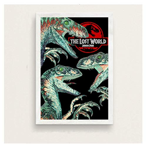 JCYMC Leinwand Bild Jurassic Park Filmreihe Kunst Malerei Vintage Leinwand Poster Wand Wohnkultur Yv28Tz 40X60Cm Rahmenlos