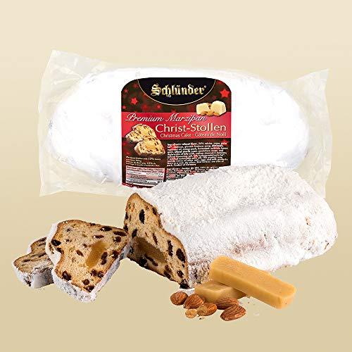 Schlünder Stollen, saftiger Christstollen mit Marzipan, edles Weihnachtsgebäck, lecker & saftig, 500 g