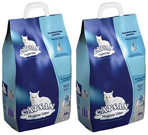 Catsan Hygiene - Lettiera per gatti, 2 x 20 l