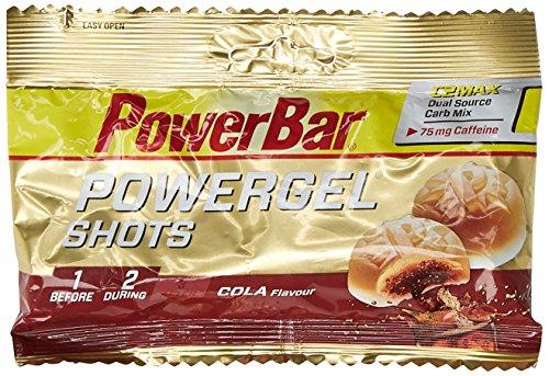 Powerbar PowerGel Shots Cola mit Koffein, 4er Pack (4 x 60 g)