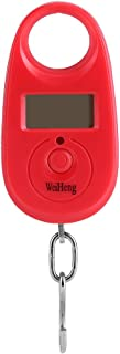 25kg/5g Mini Digital Hanging Hook Scale LCD Electronic Pocket Luggage Weighing Balance with 3 Units(Red)