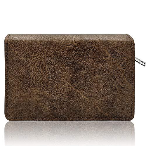 Glamexx24 portemonnee met ster patroon kunstleer portemonnee vintage design portefeuille portemonnee