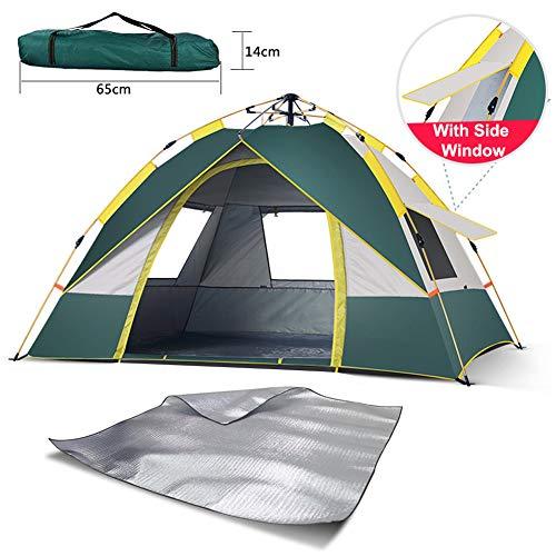 Tienda de campaña ultraligera para 2-3 personas, resistente al viento y al agua de poliuretano 3000 mm +, 3 – 4 temporadas, tienda de cúpula fácil para senderismo, festival, camping, mochila