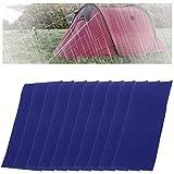 Mirrwin Parche de Reparación para Carpa Toldo de Lona Autoadhesivo Parches para Reparar Toldos para Carpas de Lona Mochilas Chaquetas de Lluvia Chaquetas de Plumas Paraguas 10Pcs (Azul)