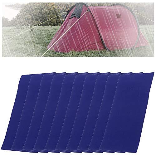 Mirrwin Repair Patch Self-Adhesive Tent Patch Repair Tape Repair Patch for Tent Inflatable Boat Repair Kit for Tarpaulin Tents Rucksacks Rain Jackets Down Jackets Umbrella 10 Sheets Blue