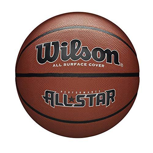 Wilson Men's NEW PERFORMANCE ALL STAR BSKT Basketball, Brown, OFFICIAL
