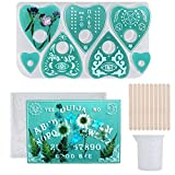 Xgood 13 Pieces DIY Tools Ouija Board Mold Planchette Mold with Measuring Cup and Stirring Sticks for DIY Crafts Decorations