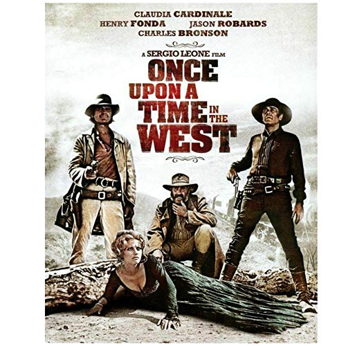 DNJKSA Cowboy Movie Western Once Upon a Time in The West Art Posters and PrintsCanvas Painting Home Decor-50x75cm No Frame