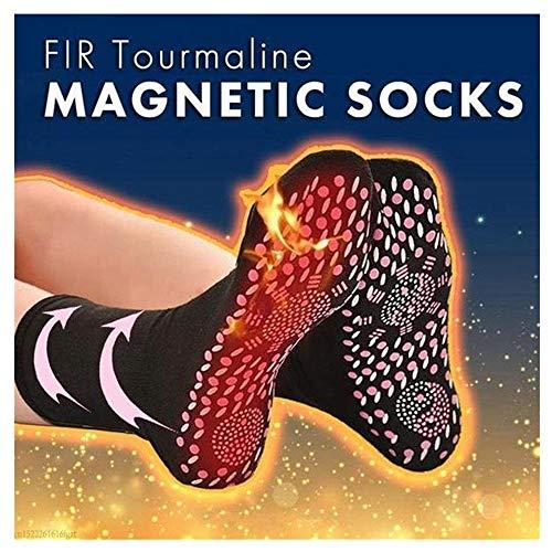 Magnetic Socks - Self Heating Socks for Unisex Women Men Winter Magnetic Therapy Socks Warm Soft Comfortable Socks Anti-Freezing Outdoor Socks (1 Pair, Black)