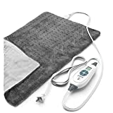 Pure Enrichment PureRelief XL (12'x24') Electric Heating Pad for Back Pain and Cramps - Ultra-Soft with 6 Temperature Settings, Auto Shut-Off, and Moist Heat (Turquoise Blue)
